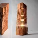 Até uma acha de lenha pode se transformar em uma bela luminária