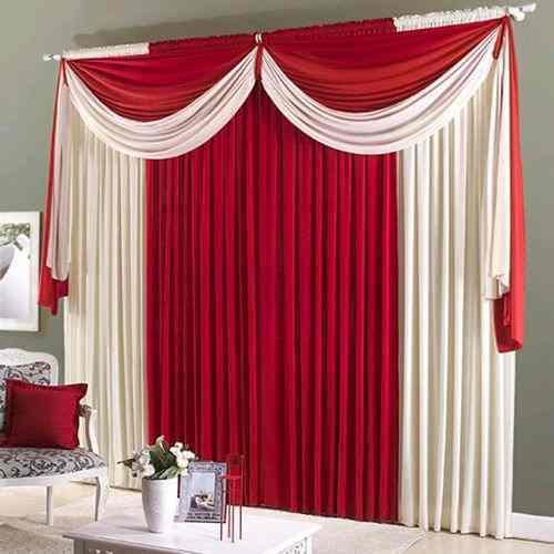 Toda a teatralidade do vermelho em uma cortina pronta