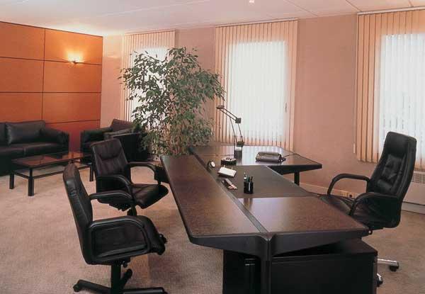 As persianas verticais também são muito populares para ambientes comerciais, e escritórios