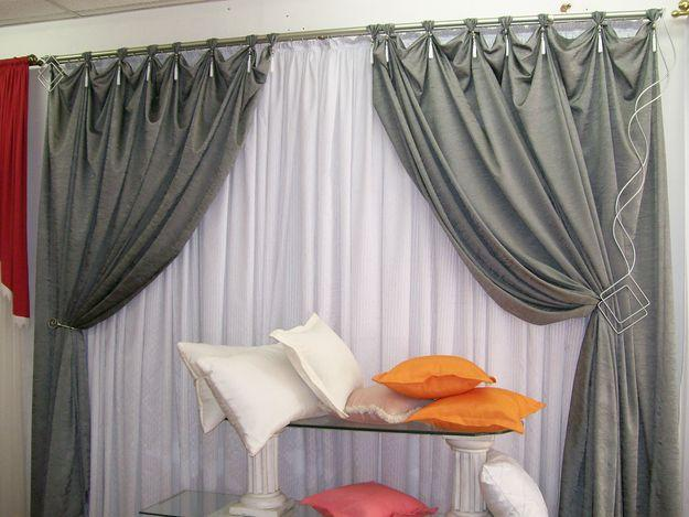 cortinas prontas para a sala de estar