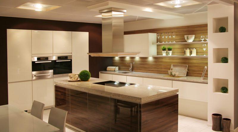 Cozinha com iluminação Spot