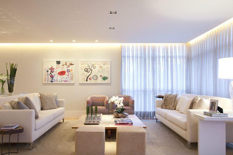 Spots de iluminação de parede, direcionáveis na sala de estar
