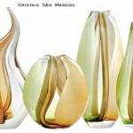 Vasos de vidro coloridos