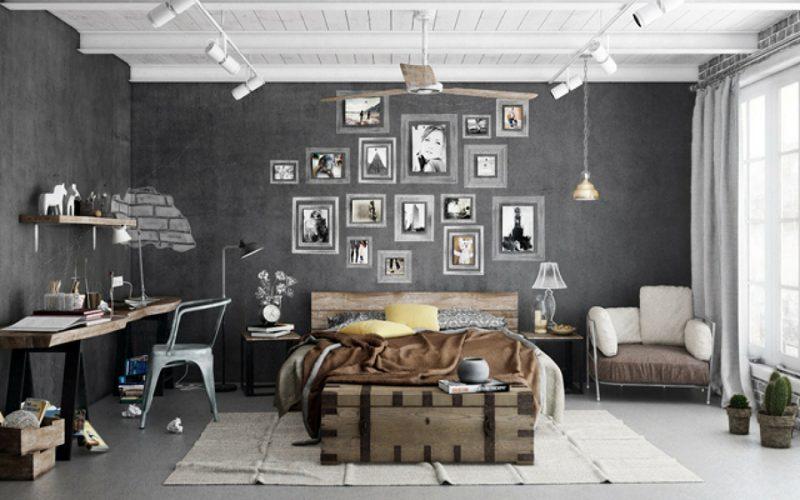 decoração de quarto vintage com ventilador