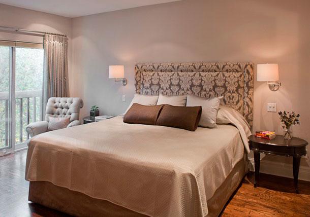 Cabeceira com estampa floral para cama de casal