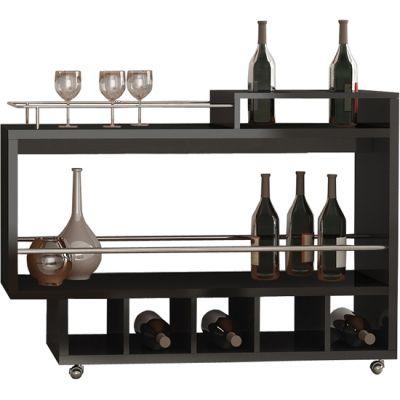 Bar tipo carrinho de bebidas para sala de estar