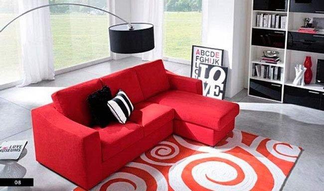 Móveis vermelhos para uma decoração cheia de vida na sala