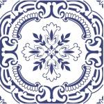 Azulejo português antigo decorativo