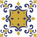 Estampa de azulejo antigo decorativa