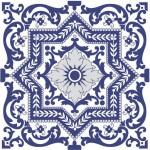 Estampa de azulejo português antigo
