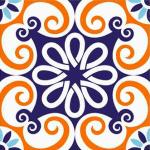 Adesivo para azulejo com cores vibrantes