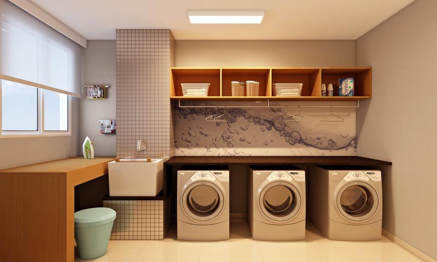 Projeto de lavanderia planejada