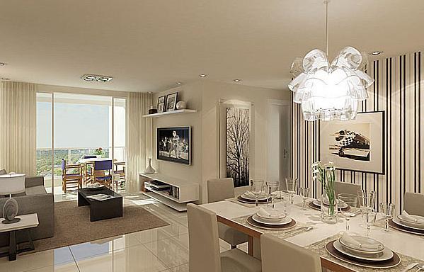 Tipos de piso para sala for Pisos de porcelanato para sala