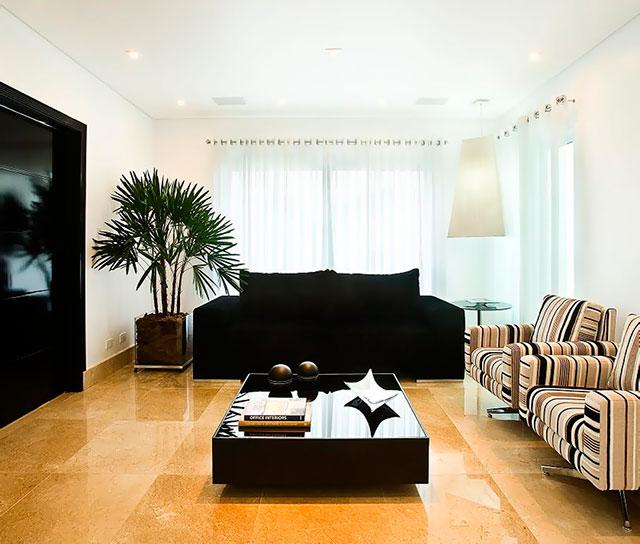 revestimento de piso de pedra para sala
