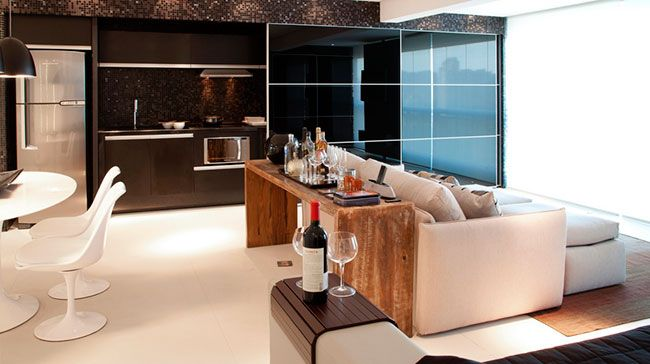 Cozinha integrada com a sala e estar