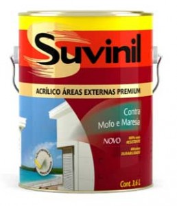 Tinta Suvinil Anti-mofo para paredes externas