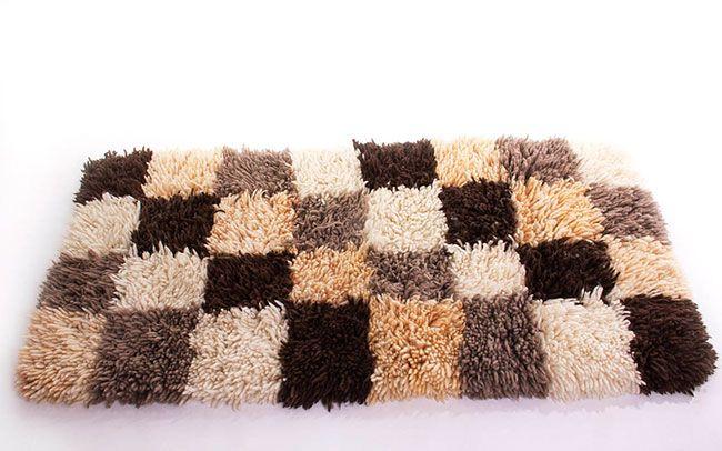 tapete simples de lã para a sala