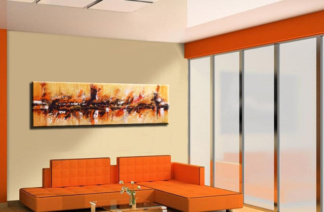Sala de estar revestida com cores claras e vibrantes de coloração antimofo