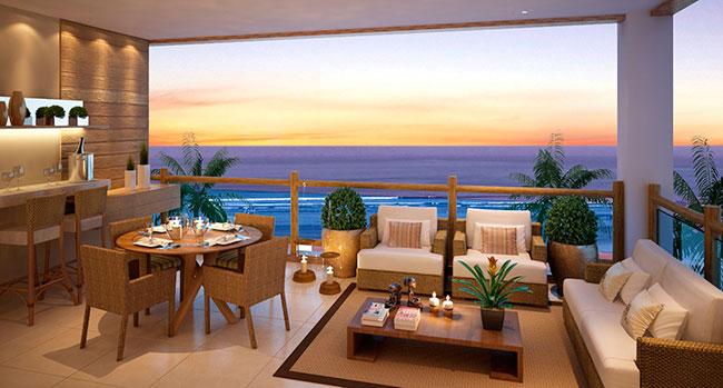 Além disso, o mobiliário de madeira garante uma bela composição em casas na praia e apartamentos litorâneos.