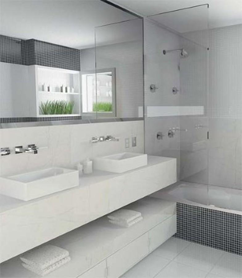 Decoração de banheiro simples em branco