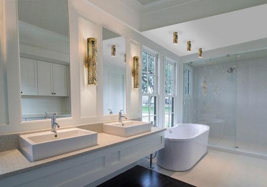 Bancada e banheiro granito aqualux