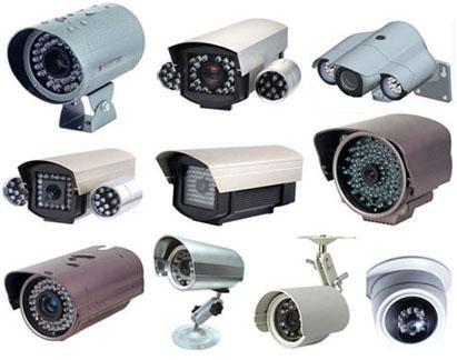 diferentes modelos de câmeras para circuito de segurança