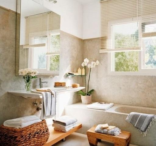 Cesto decorativo para toalhas ajuda a compor a decoração do banheiro