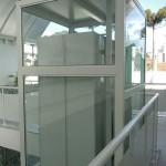 Elevador panorâmico simples em vidro