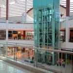 Elevador panorâmico comercial interno