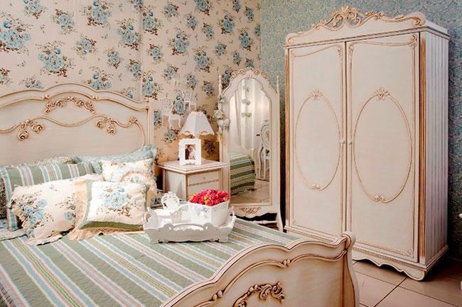 Decoração estilo provençal no quarto