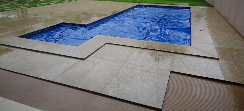 Borda de granito para piscina