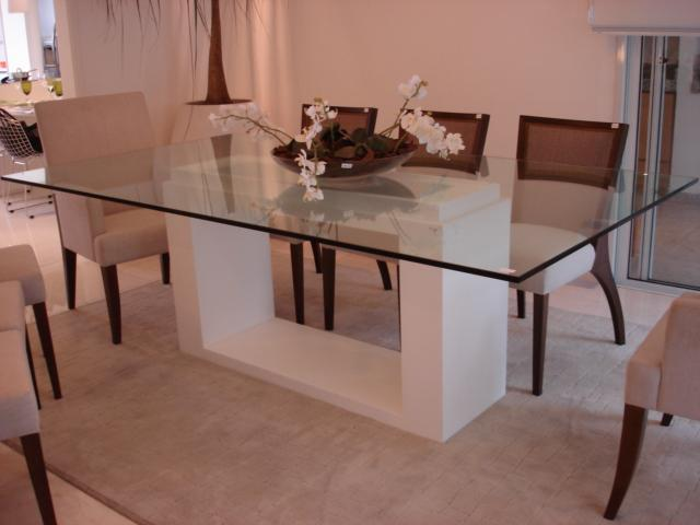 Mesa Para Sala De Jantar Com Vidro ~ Mesas de vidro simples para sala de jantar
