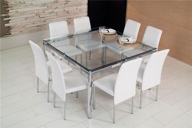 Mesa de vidro para sala de jantar