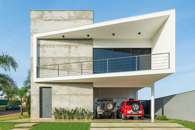 Fachada de casa  moderna de concreto