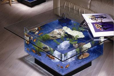 Aquário decorativo de mesa de centro par sala de estar
