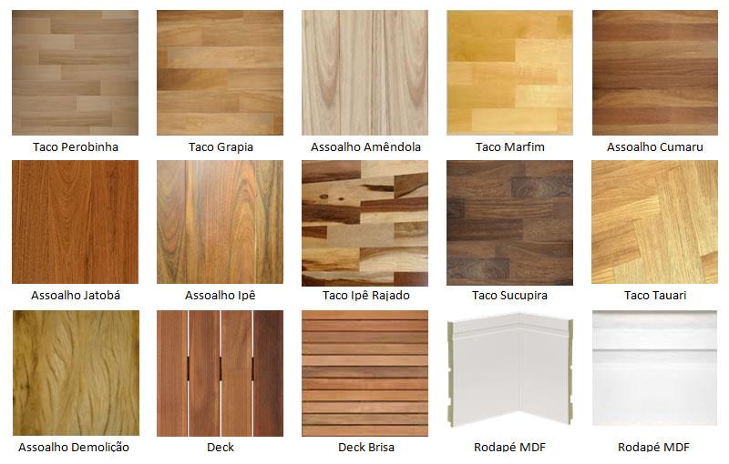 Texturas de diferentes tipos de assoalhos de madeira