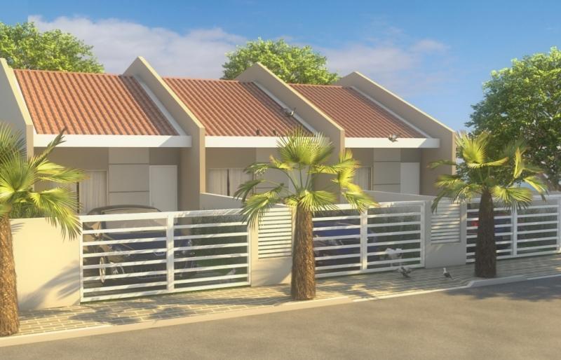 Portão residencial externo de madeira com esmalte branco