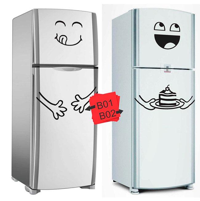 Adesivos divertidos com memes para geladeira