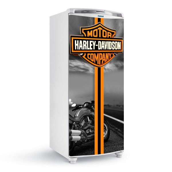 Adesivo Harley Davison temático para geladeira residencial