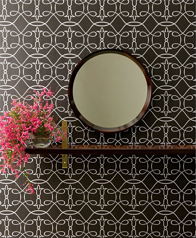 Textura de arabesco usada em papel de parede