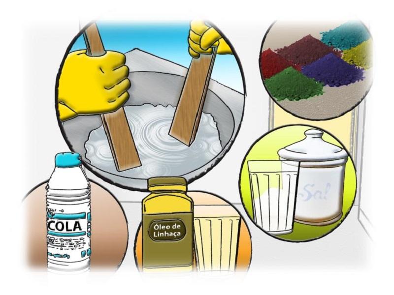 Cal para pintura - modo de preparo da mistura