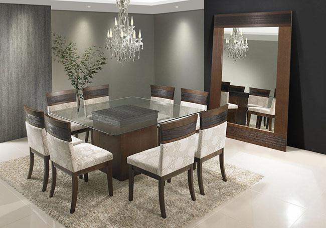 Vidro Na Sala De Jantar ~ espelho grande decoração de sala de jantar