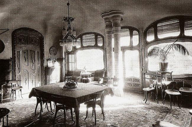 Decoração de interiores no estilo Art Nouveau