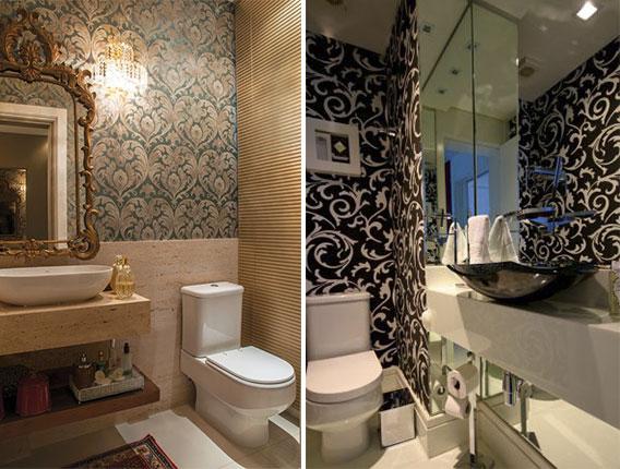 lavabo decorado com papel de parede 3