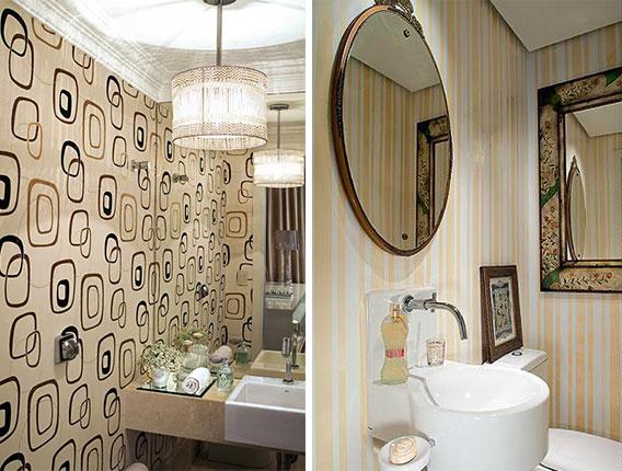 lavabo decorado com papel de parede 4