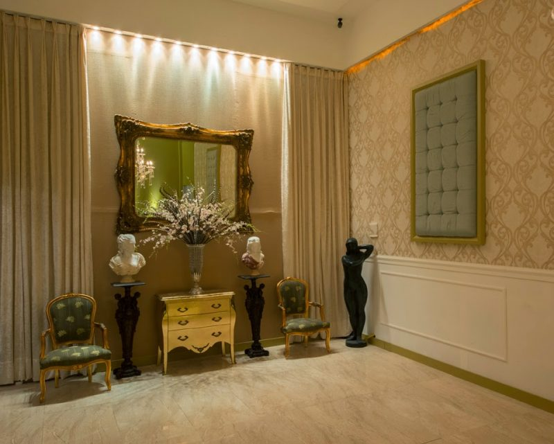 Papel de parede árabe na decoração de ambiente residencial