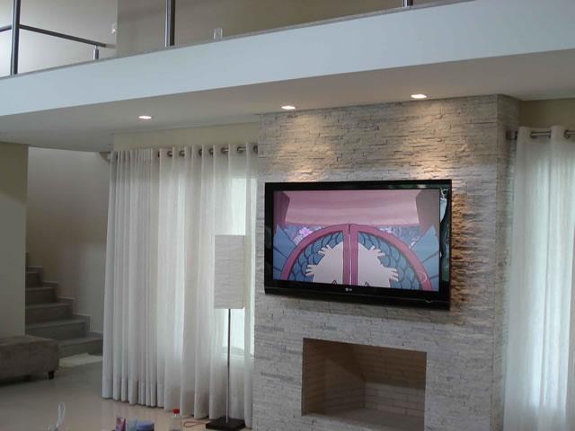 Parede de painel de TV de Quartzito bege