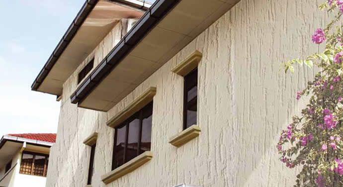 Revestimentos para paredes externas for Pintura texturada para exterior