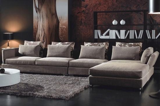 Modelo de sofá de canto contemporâneo