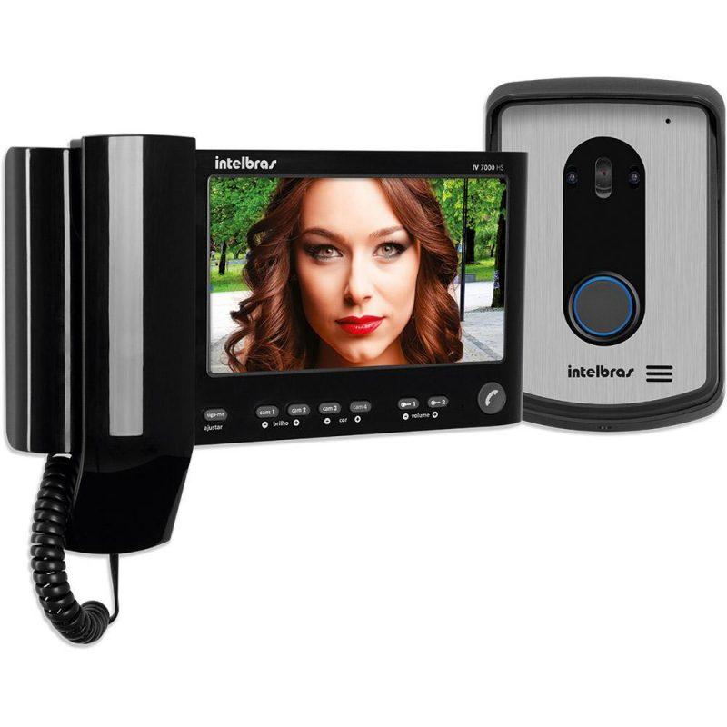Modelo de vídeo porteiro com visor LED e câmera externa